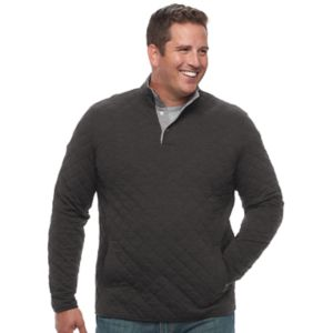 Big & Tall Croft & Barrow® Classic-Fit Quilted Mockneck Pullover!